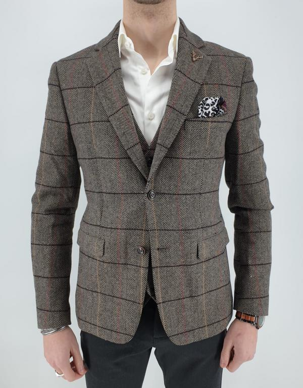 Static_Blazer_Brown_Check_2
